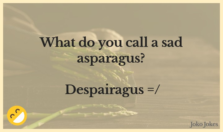 Asparagus joke, What does a vegetable use to change a flat?