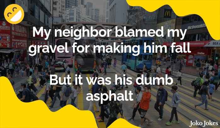 Asphalt joke, A guy walks into a bar...