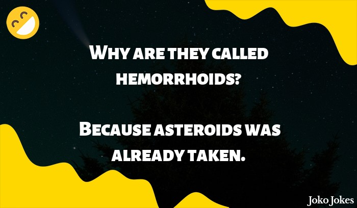 Asteroid joke, What's the difference between a spacecraft and an asteroid?