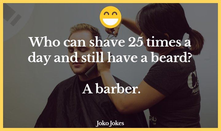 Barber joke, A man walks into a barbershop...