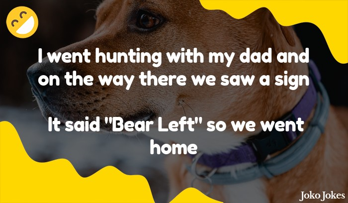 Bear Hunting joke, A guy is out hunting...