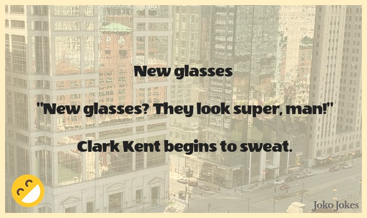 Clark joke, New glasses