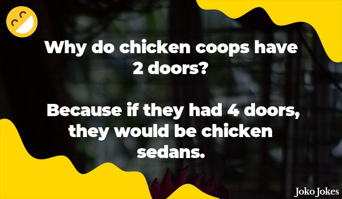 Coop joke, Why did the chicken cross the bridge?