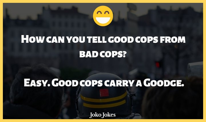 Cops joke, Wrong queue !