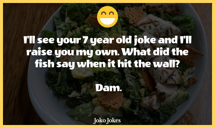 Dam Fish joke, What did the fish say when he ran into a cement wall?