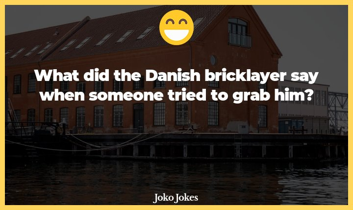 Danish joke, What book are you reading?