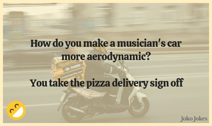 Delivery joke, Did you hear about the pizza boy who wanted to become a comedian? (OC)