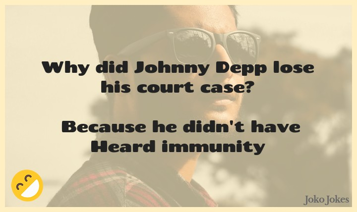 Depp joke, Why did Johnny Depp lose his court case?