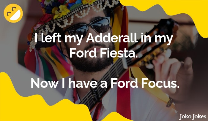 Fiesta joke, What's the difference between a Ford Fiesta and a Ford Focus?