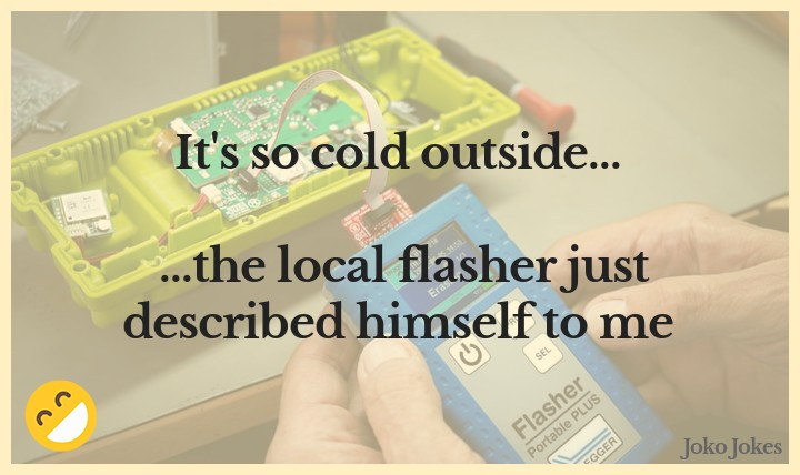 Flasher joke, What did the flasher do when he thought of retiring?