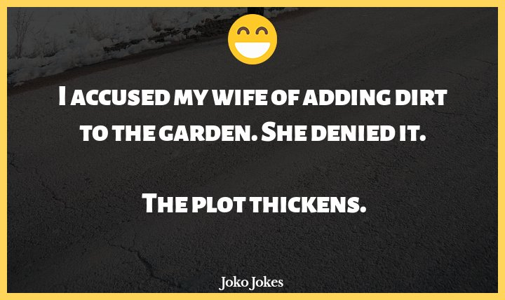 Garden joke, The Garden of Eden