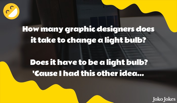 Graphic joke, How can you tell between a graphic designer and recruiter?