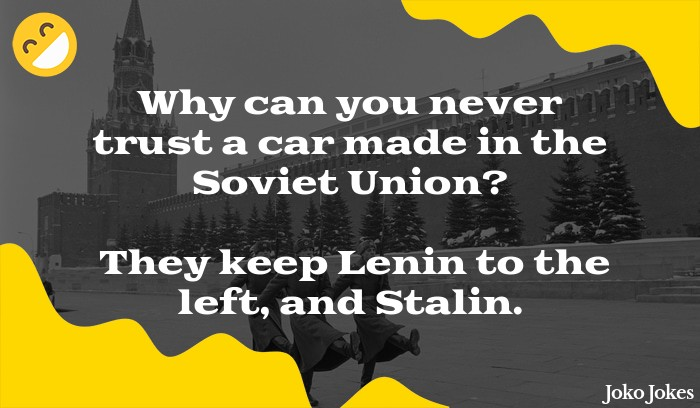 Lenin joke, Did you hear the one about the three russians who robbed a bank?