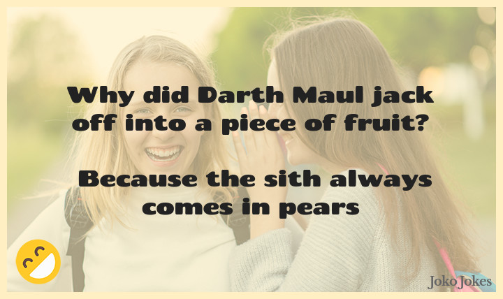 Maul joke, Ironic isn't it? Darth Maul and Count Dooku died nearly the same way...