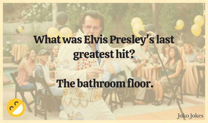Presley joke, I've just received a phone call saying I've won £250 or 2 tickets for an Elvis Presley tribute show