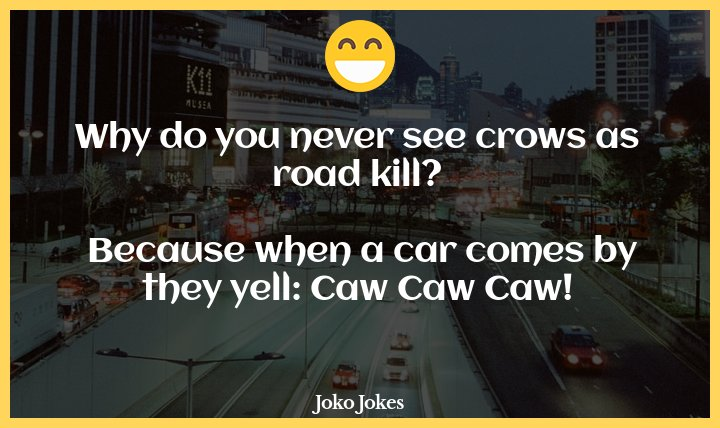 Road Kill joke