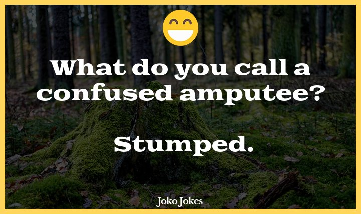 Stump joke, Clean Shave