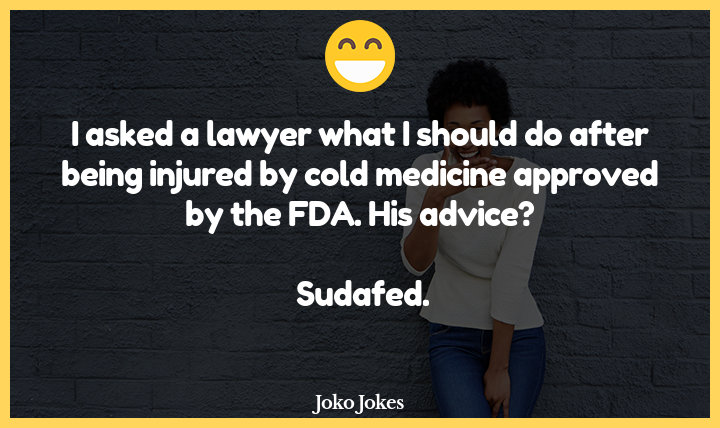 Sudafed joke, What did the man who blamed his nasal congestion on the federal reserve do in response?