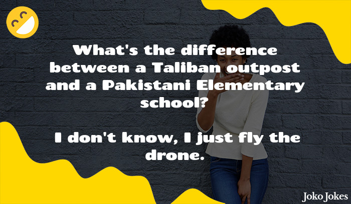 Taliban joke, What is the difference between an Afghanistani Primary School and a Taliban Base?