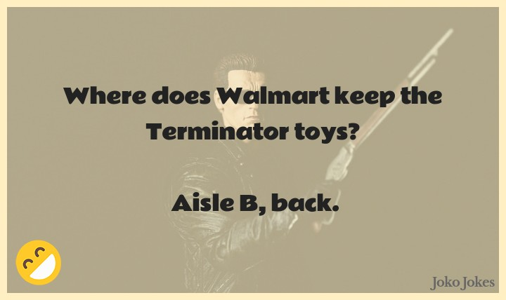Terminator joke, How did the Terminator convince his girlfriend to move in with him?