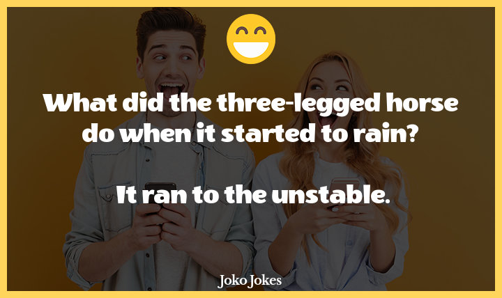 Threelegged joke, Did you hear about the three-legged dog who limped into the saloon in a town in the old west?